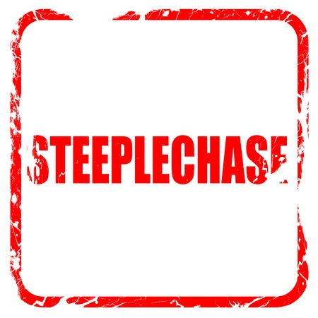 steeplechase: Steeplechase sign background with some soft smooth lines, red rubber stamp with grunge edges
