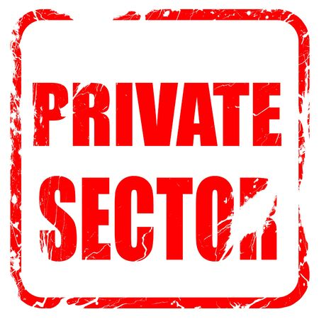 private domain: private sector, red rubber stamp with grunge edges Stock Photo