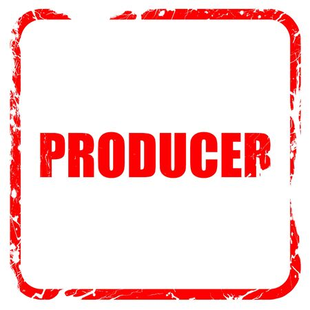 producer: producer, red rubber stamp with grunge edges