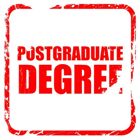 postgraduate: postgraduate degree, red rubber stamp with grunge edges Stock Photo