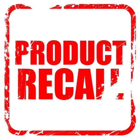 recall: product recall, red rubber stamp with grunge edges Stock Photo