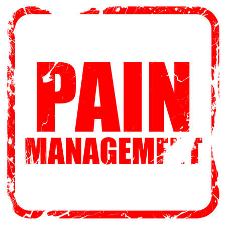 pain management: pain management, red rubber stamp with grunge edges