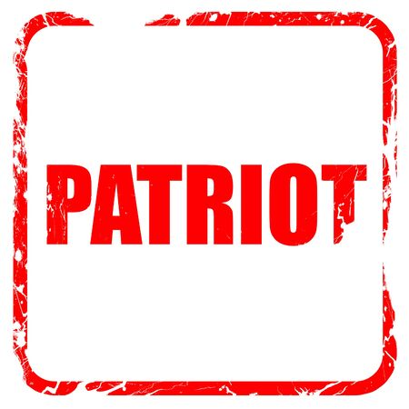 patriot, red rubber stamp with grunge edges Stock Photo