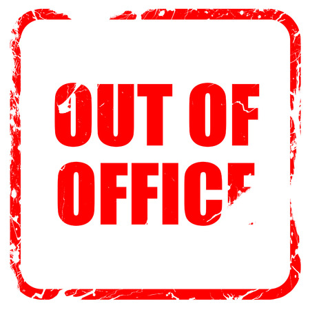 unoccupied: out of office, red rubber stamp with grunge edges Stock Photo
