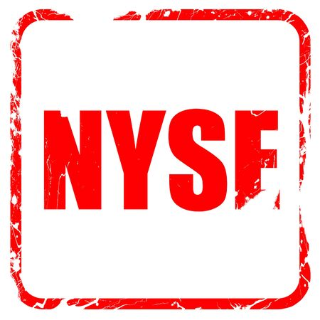 nyse: nyse, red rubber stamp with grunge edges