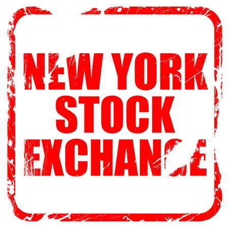 nyse: new york stock exchange, red rubber stamp with grunge edges