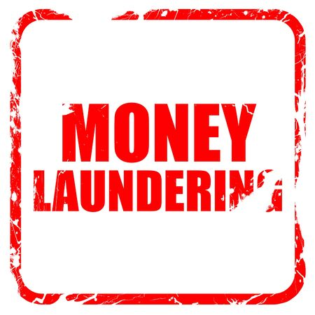 aml: money laundering, red rubber stamp with grunge edges Stock Photo