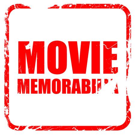 memorabilia: movie memorabilia, red rubber stamp with grunge edges