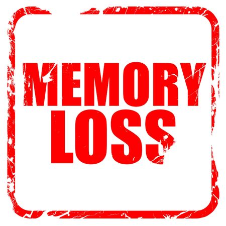 memory loss: memory loss, red rubber stamp with grunge edges Stock Photo