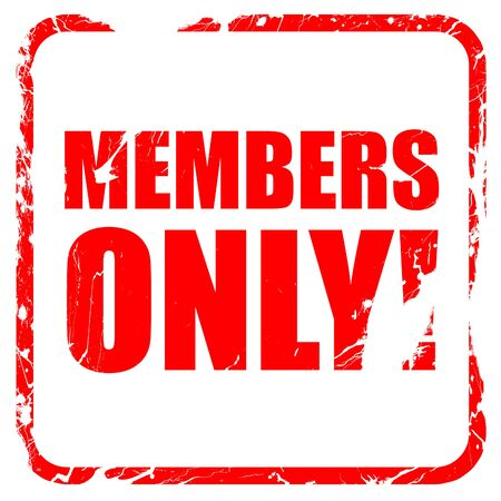 closed club: members only!, red rubber stamp with grunge edges Stock Photo