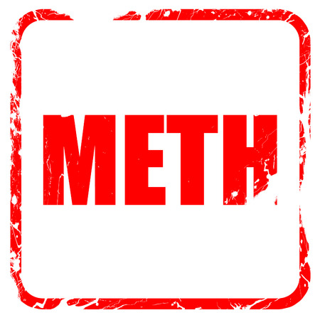 meth: meth, red rubber stamp with grunge edges