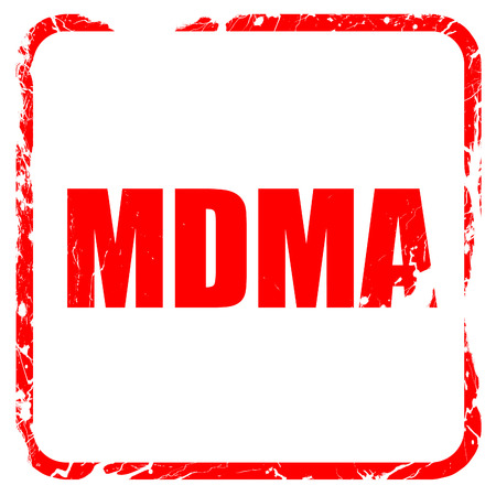 mdma: mdma, red rubber stamp with grunge edges Stock Photo