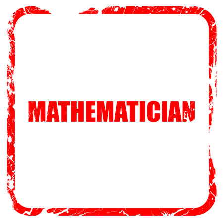mathematician: mathematician, red rubber stamp with grunge edges Stock Photo