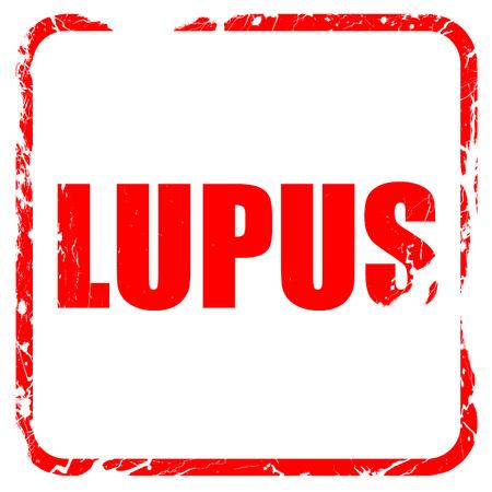 erythematosus: lupus, red rubber stamp with grunge edges