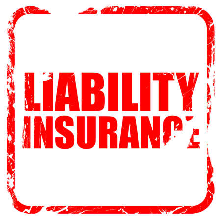 liability insurance: liability insurance, red rubber stamp with grunge edges Stock Photo