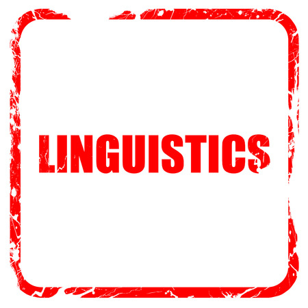 linguistics: linguistics, red rubber stamp with grunge edges Stock Photo