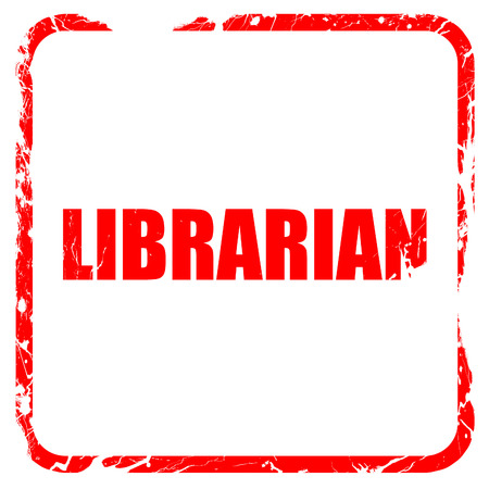 librarian: librarian, red rubber stamp with grunge edges Stock Photo