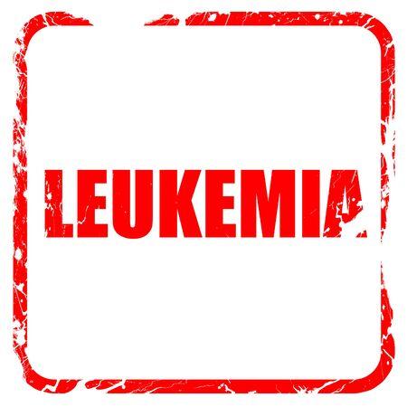 leucemia: leucemia, sello de goma de color rojo con bordes grunge Foto de archivo