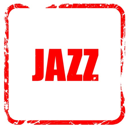 african sax: jazz music, red rubber stamp with grunge edges