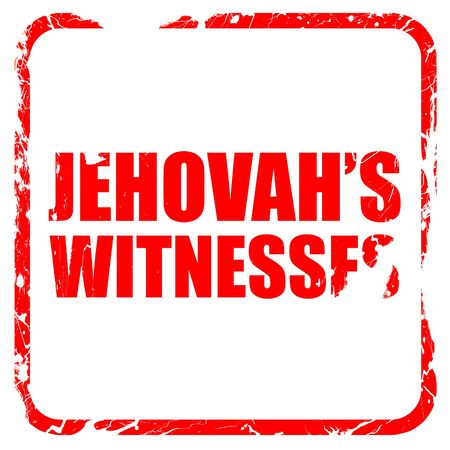 jehovahs witnesses, red rubber stamp with grunge edges