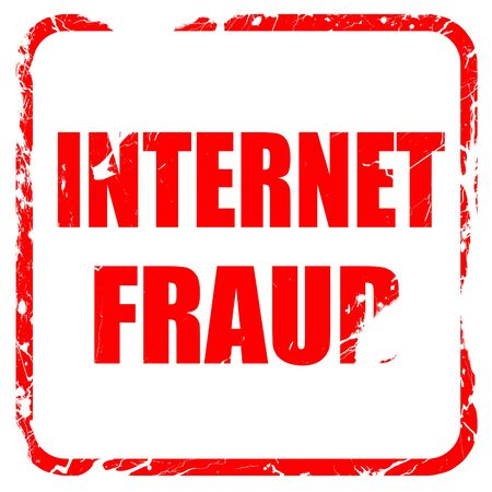 internet fraud: Internet fraud background with some smooth lines, red rubber stamp with grunge edges