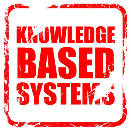 is based: knowledge based systems, red rubber stamp with grunge edges Stock Photo