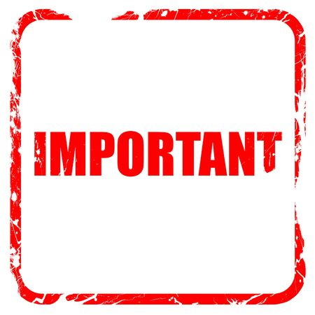 important sign: important sign background with some soft smooth lines, red rubber stamp with grunge edges Stock Photo