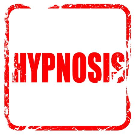 hypnotism: hypnosis, red rubber stamp with grunge edges Stock Photo