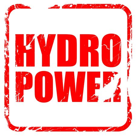 hydro power: hydro power, red rubber stamp with grunge edges