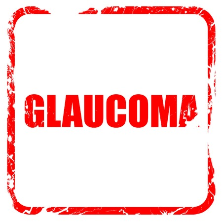 glaucoma: glaucoma, red rubber stamp with grunge edges Stock Photo