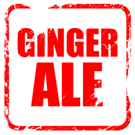 type bar: ginge ale, red rubber stamp with grunge edges