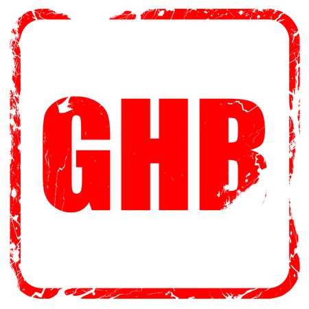 anaesthetic: ghb, red rubber stamp with grunge edges