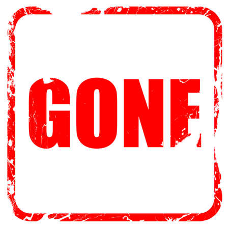 gone: gone sign background with some soft smooth lines, red rubber stamp with grunge edges