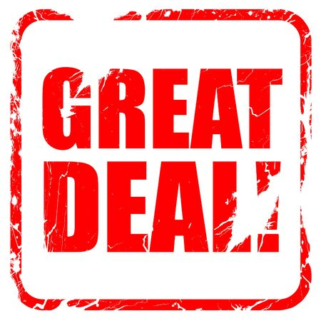 great deal: great deal, red rubber stamp with grunge edges Stock Photo