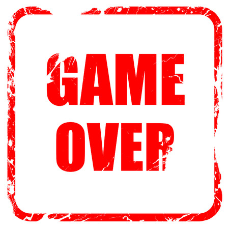 unsuccess: game over, red rubber stamp with grunge edges