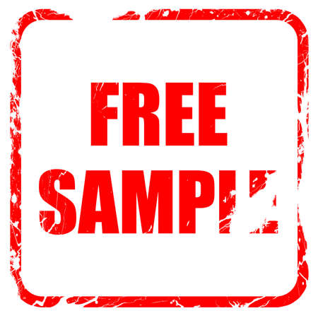 free sample: free sample sign with some soft smooth lines, red rubber stamp with grunge edges Stock Photo