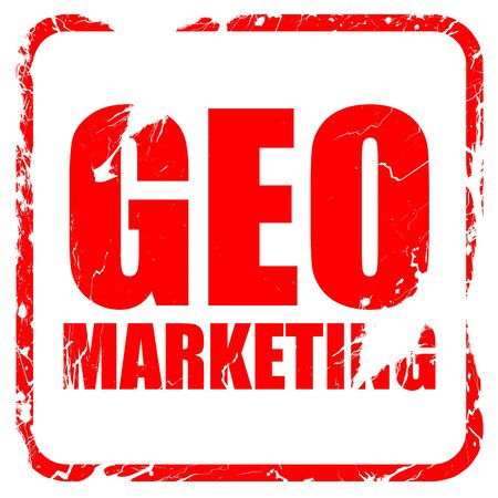 geo: geo marketing, red rubber stamp with grunge edges Stock Photo