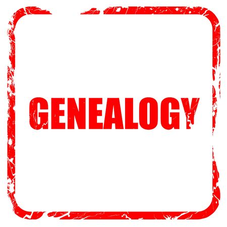 genealogy: genealogy, red rubber stamp with grunge edges Stock Photo