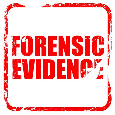 forensic: forensic evidence, red rubber stamp with grunge edges Stock Photo