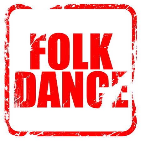 marathi: folk dance, red rubber stamp with grunge edges Stock Photo