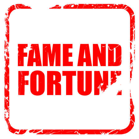 fame: fame and fortune, red rubber stamp with grunge edges Stock Photo