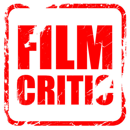 critic: film critic, red rubber stamp with grunge edges Stock Photo