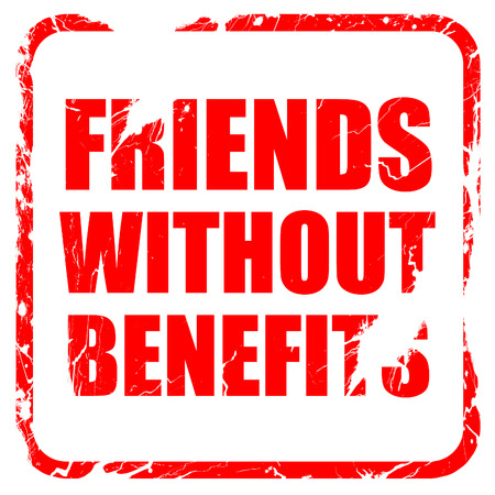 without: friends without benefits, red rubber stamp with grunge edges Stock Photo
