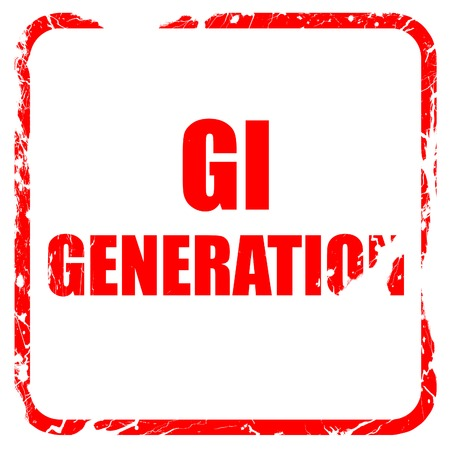 greatest: List of generations,The Lost Generation,The Greatest Generation,The Silent Generation., red rubber stamp with grunge edges