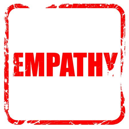 empatia: la empat�a, sello de goma de color rojo con bordes grunge Foto de archivo