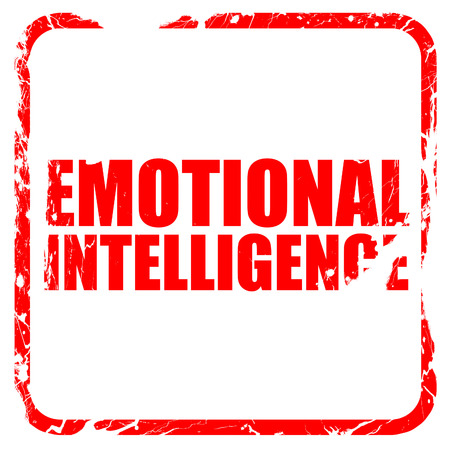 decreased: emotional intelligence, red rubber stamp with grunge edges