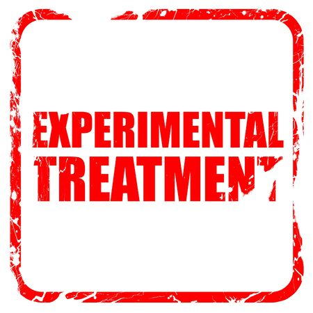 experimental: experimental treatment, red rubber stamp with grunge edges