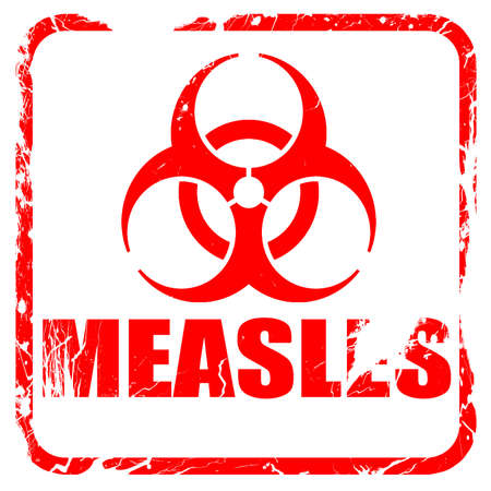 measles: measles concept background with some soft smooth lines, red rubber stamp with grunge edges