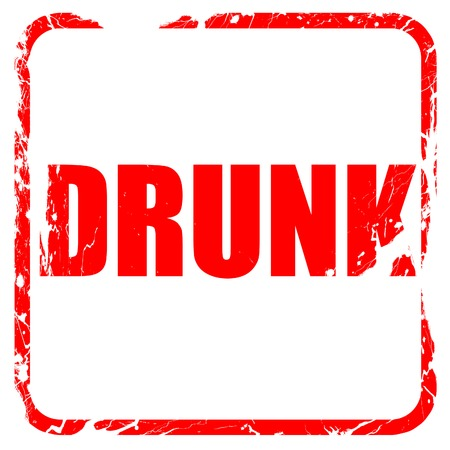 dui: drunk, red rubber stamp with grunge edges