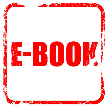 databank: e-book, red rubber stamp with grunge edges